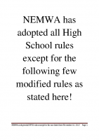 Modified Rules
