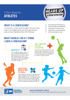 Concussion Fact Sheet- Athletes
