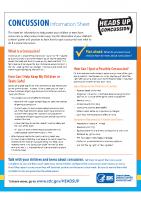 Concussion Fact Sheet- Parents